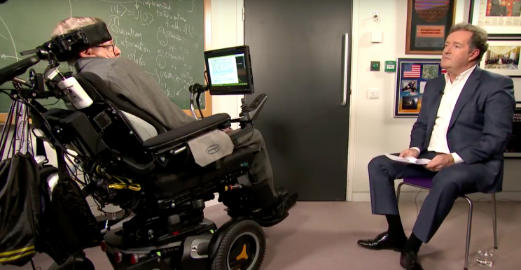Stephen Hawking announced his plans on Good Morning Britain (ITV)