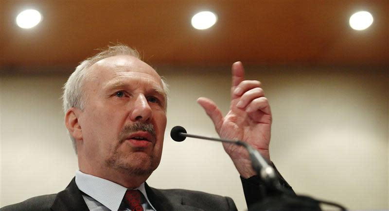 European Central Bank Governing Council member Nowotny addresses an economic conference in Vienna