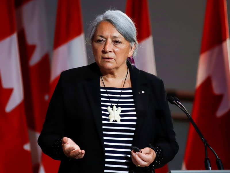 Mary Simon attends a news conference where she is announced as the next Governor General of Canada