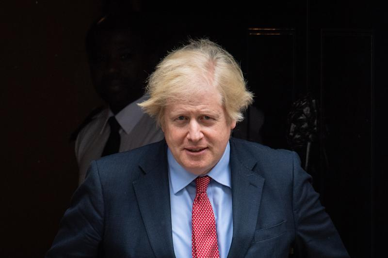 Prime Minister Boris Johnson departs 10 Downing Street, in Westminster, London, to attend Prime Minister's Questions (PMQs) at the Houses of Parliament. (Photo by Dominic Lipinski/PA Images via Getty Images)