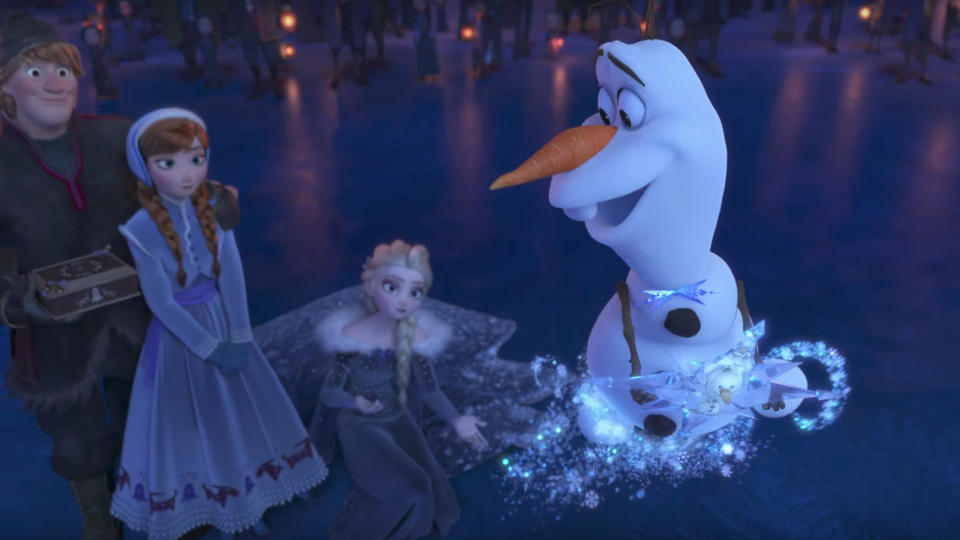 'Olaf's Frozen Adventure'. (Credit: Disney)