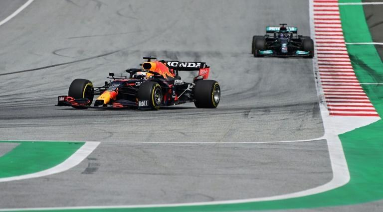 Mercedes' Lewis Hamilton (right) has been in the unfamiliar position recently of having to follow Red Bull's championship leader Max Verstappen