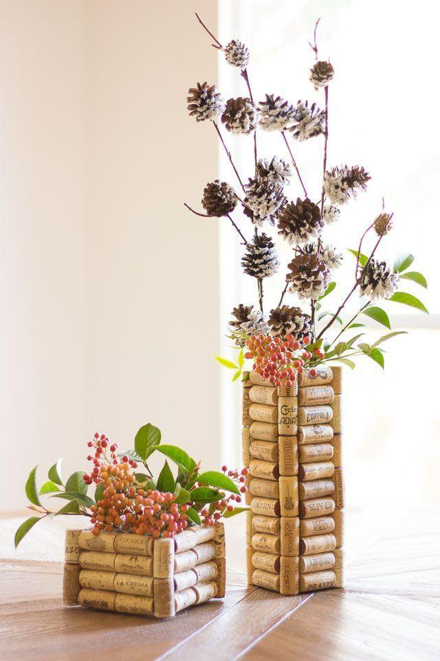 """<p>Here's a fun way to put your wine cork collection to good use: Craft vases out of it! </p><p><strong>Get the tutorial at <a href=""""http://www.designimprovised.com/2014/11/thrifty-diy-wine-cork-vases.html"""" rel=""""nofollow noopener"""" target=""""_blank"""" data-ylk=""""slk:Design Improvised"""" class=""""link rapid-noclick-resp"""">Design Improvised</a>.</strong></p><p><strong><a class=""""link rapid-noclick-resp"""" href=""""https://go.redirectingat.com?id=74968X1596630&url=https%3A%2F%2Fwww.walmart.com%2Fip%2FBulk-Wine-Corks-1-x-15-16-Fit-Most-Bottles-100-Pack-Straight-Un-Recycled%2F132458600&sref=https%3A%2F%2Fwww.thepioneerwoman.com%2Fholidays-celebrations%2Fgifts%2Fg32307619%2Fdiy-gifts-for-mom%2F"""" rel=""""nofollow noopener"""" target=""""_blank"""" data-ylk=""""slk:SHOP CORKS"""">SHOP CORKS</a><br></strong></p>"""
