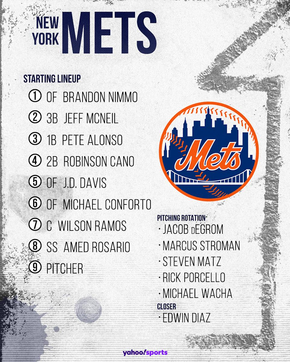 New York Mets projected lineup. (Photo by Paul Rosales/Yahoo Sports)