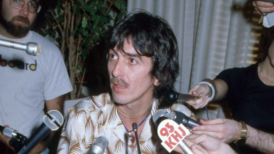 George Harrison accepted an MBE along with the other Beatles, but later turned down an OBE. (Icon and Image/Getty Images)