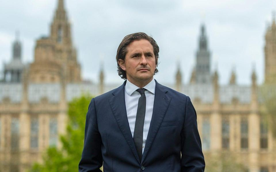 """Tory MP Johnny Mercer who was """"forced"""" to resign as a defence minister, by number 10, over the treatment of veterans who served in Northern Ireland. - Geoff Pugh/The Telegraph"""