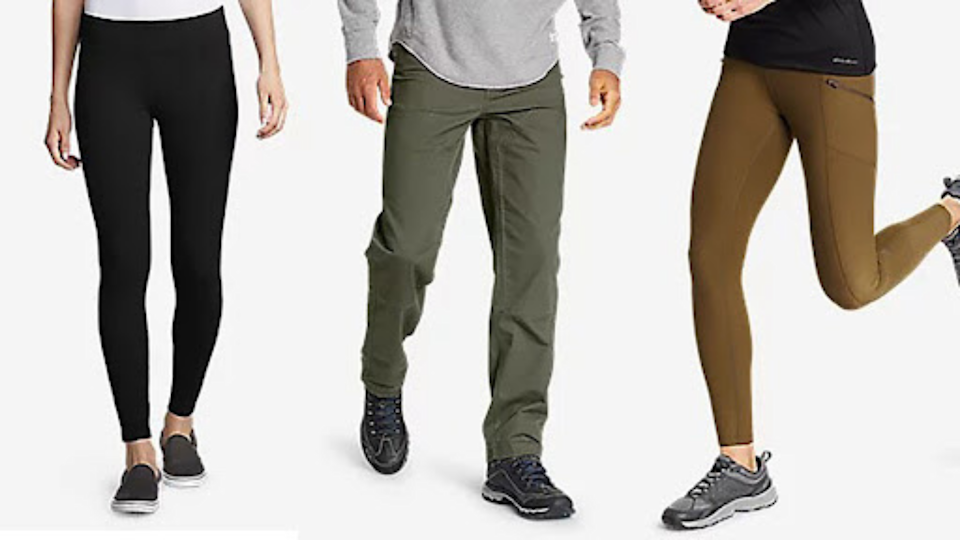 Just in time for fall, you can save  30% on leggings, pants and jeans at Eddie Bauer now.