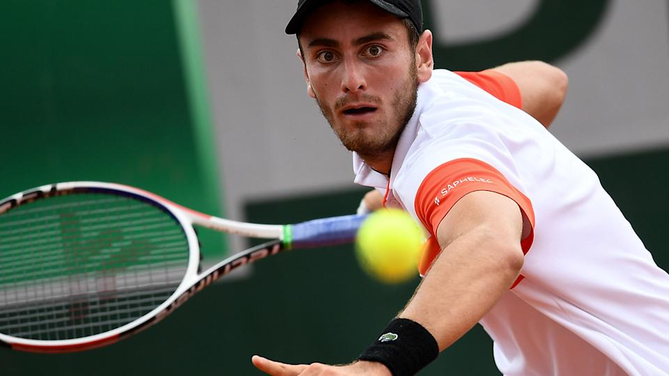 Elliot Benchetrit, pictured here in action at the 2019 French Open.