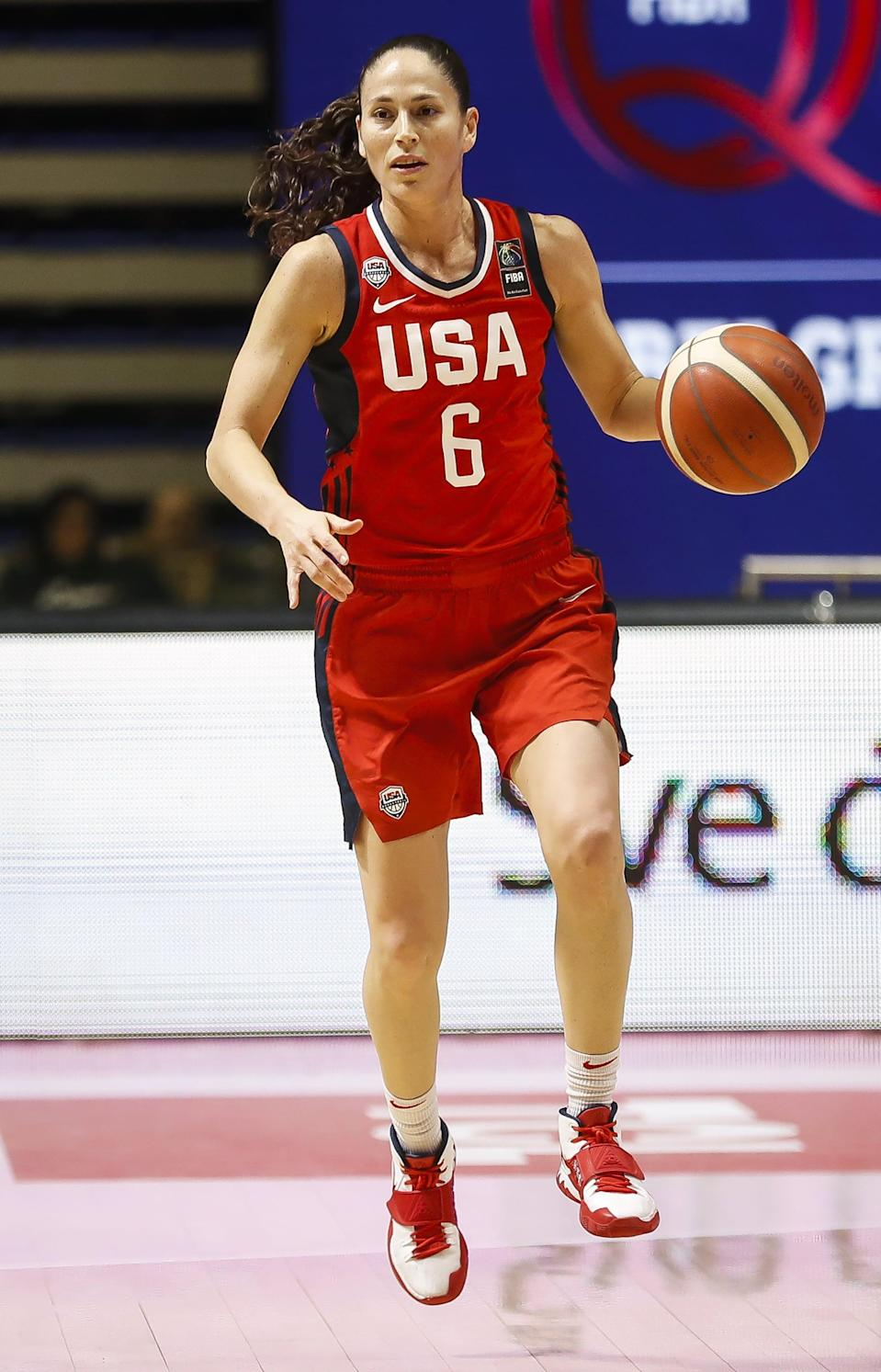 """<p>Basketball star Sue Bird has won multiple championships in the NCAA, WNBA, and EuroLeague, and holds four Olympic gold medals to her name. Famously private, Bird <a href=""""http://www.espn.com/espnw/feature/20088416/wnba-all-star-sue-bird-ready-let-in"""" class=""""link rapid-noclick-resp"""" rel=""""nofollow noopener"""" target=""""_blank"""" data-ylk=""""slk:went public with her sexuality"""">went public with her sexuality</a> in a 2017 ESPNW feature, saying, """"I don't feel like I've not lived my life. I think people have this assumption that if you're not talking about it, you must be hiding it, like it's this secret. That was never the case for me . . . It's happening when it's happening because that's what feels right . . . It's my journey.""""</p> <p>Bird has been dating Megan Rapinoe since 2016, and has said that <a href=""""https://www.seattletimes.com/sports/storm/seattle-meet-your-sports-power-couple-sue-bird-and-megan-rapinoe/"""" class=""""link rapid-noclick-resp"""" rel=""""nofollow noopener"""" target=""""_blank"""" data-ylk=""""slk:Rapinoe showed her the importance"""">Rapinoe showed her the importance</a> of publicly sharing her sexuality. """"Megan and I would have conversations about it, and she opened my eyes to another way of looking at it, which is that in today's time, in today's society, it's still important to kind of say it to make it the norm,"""" she told the <strong>Seattle Times</strong> in 2018. That same year, Bird and Rapinoe became the first same-sex couple to <a href=""""https://www.espn.com/video/clip/_/id/23816827"""" class=""""link rapid-noclick-resp"""" rel=""""nofollow noopener"""" target=""""_blank"""" data-ylk=""""slk:appear in ESPN's Body Issue"""">appear in ESPN's Body Issue</a>.</p>"""