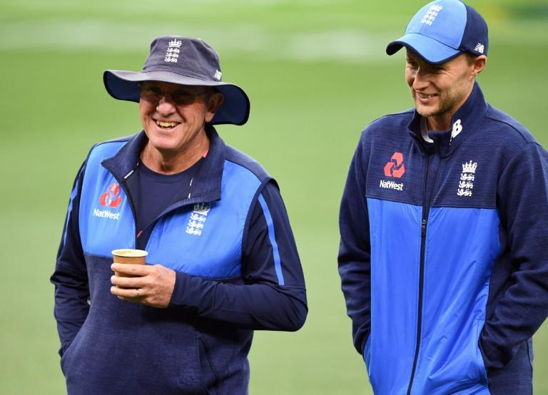 Trevor Bayliss's (L) England have struggled for form in the T20 tri-series, missing key players in the wake of the Ashes and one-day international series in Australia