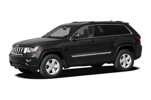 Police are looking for Efriem Abebe Alatah's 2012 black Jeep Grand Cherokee similar to the one shown here. (Edmonton Police Service - image credit)