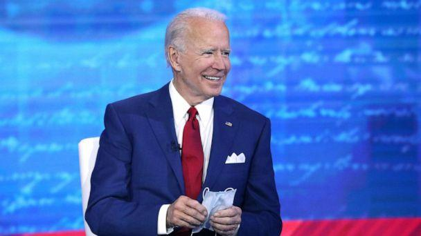 PHOTO: ABC News hosts a town hall with Democratic presidential nominee and former Vice President Joe Biden, Oct. 15, 2020, in Philadelphia. (Heidi Gutman/ABC News)