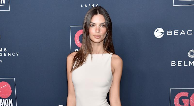 "Emily Ratajkowski has shared the picture she shows people to prove her body is ""natural"" [Image: Getty]"