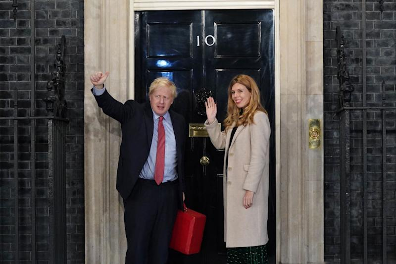 Boris Johnson and Carrie Symonds have welcomed a Downing Street baby. (Getty Images)