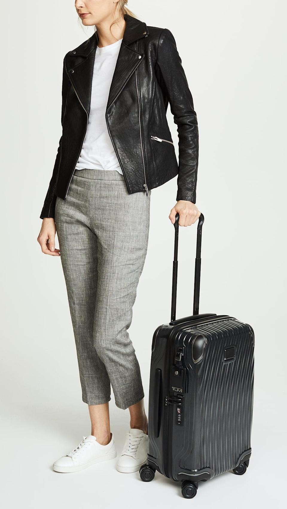 <p>This <span>Tumi Latitude International Carry-On Suitcase</span> ($599, originally $750) is just over five pounds, so it's great for international travel. Plus, it's so luxurious. </p>