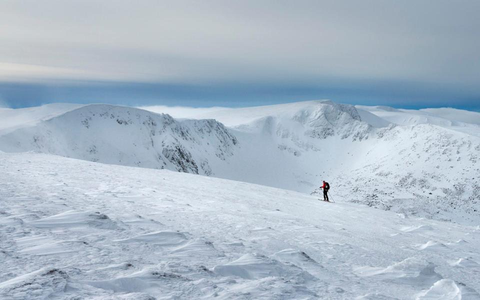 Swap the alps for Scotland for a more sustainable ski trip - Getty
