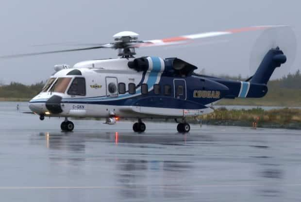 Sikorsky S-92 helicopters, such as the one pictured here at St. John's International Airport late last year, had become a routine presence in the airspace over the city. But a slowdown in the oil industry has dramatically reduced the demand for passenger air service to the offshore.