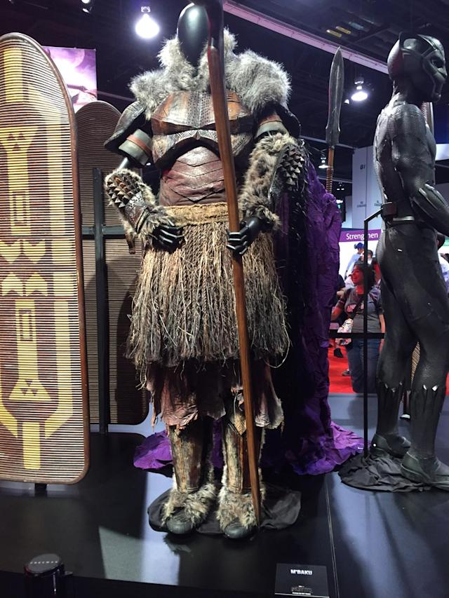 <p>M'Baku (Winston Duke) is an African tribesman who becomes Man-Ape, one of the Panther's archenemies in the comics. (Photo: Marcus Errico/Yahoo Movies) </p>