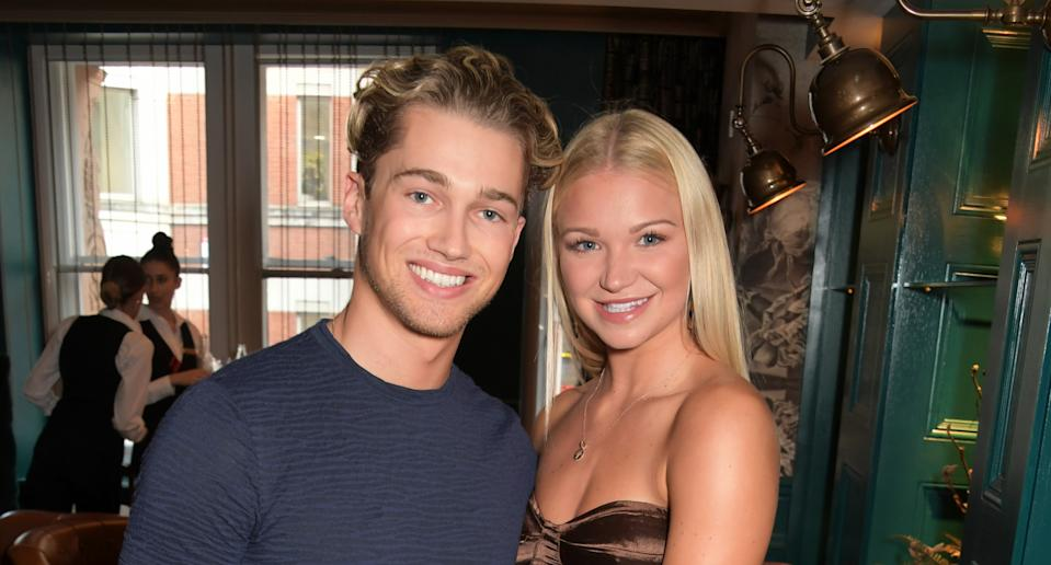 AJ Pritchard and Abbie Quinnen attend a VIP performance of Magic Mike Live London at the Hippodrome Casino on August 6, 2019 in London, England. (Photo by David M. Benett/Dave Benett/Getty Images)