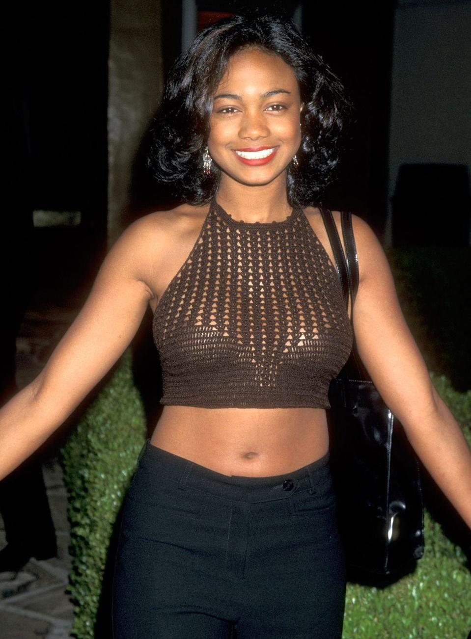 <p>Yes, that's cousin Ashley from <em>The Fresh Prince of Bel-Air</em>, aka, Tatyana Ali. </p>