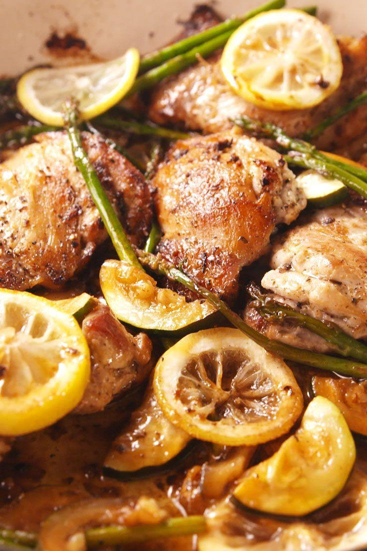 """<p>Garlic lovers, this chicken is for you.</p><p>Get the recipe from <a href=""""https://www.delish.com/cooking/recipe-ideas/recipes/a54115/garlicky-greek-chicken-recipe/"""" rel=""""nofollow noopener"""" target=""""_blank"""" data-ylk=""""slk:Delish"""" class=""""link rapid-noclick-resp"""">Delish</a>. </p>"""