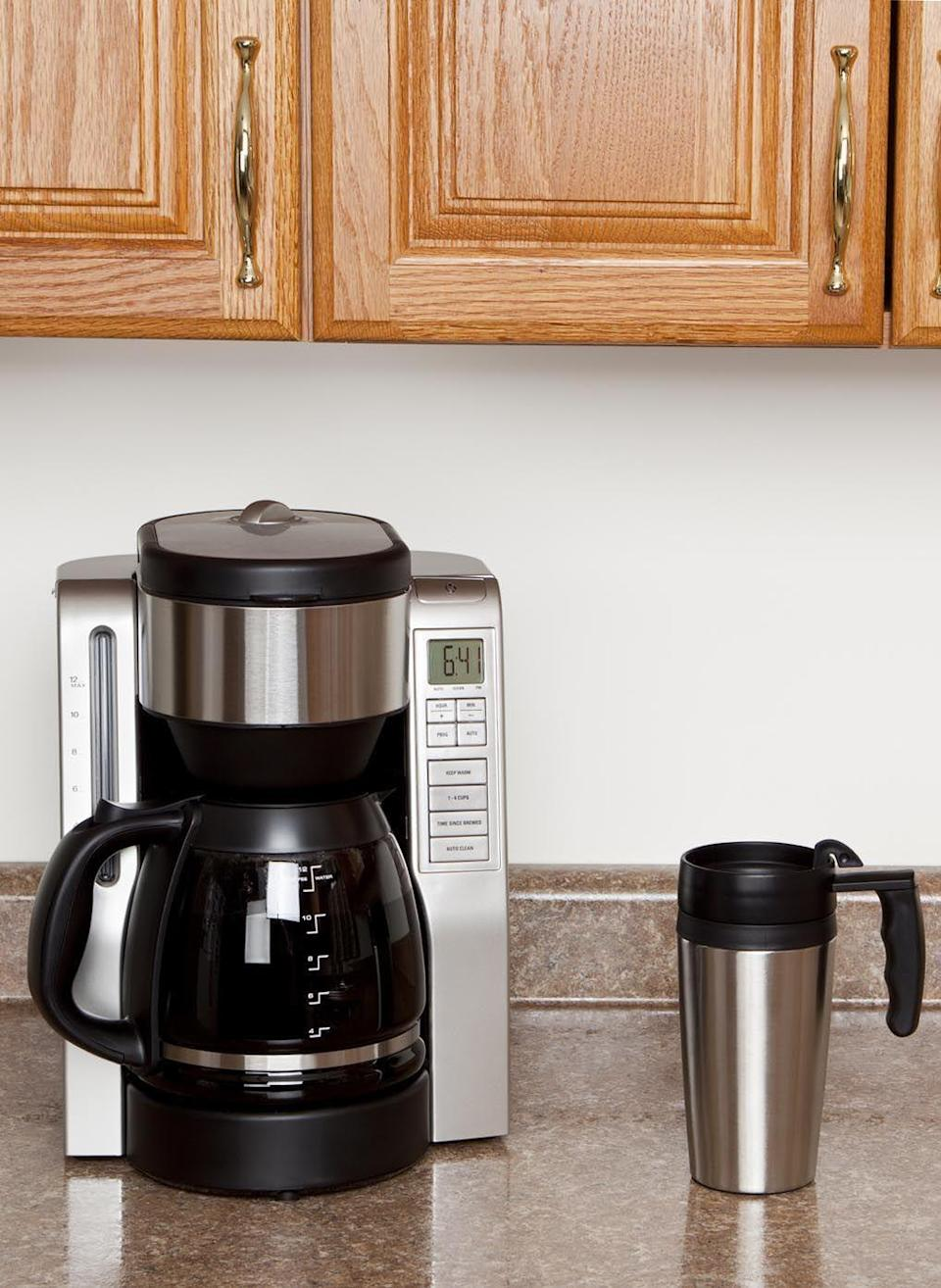 """<p>If you descale your coffeemaker with white vinegar <a href=""""https://www.goodhousekeeping.com/home/cleaning/tips/a26565/cleaning-coffee-maker/"""" rel=""""nofollow noopener"""" target=""""_blank"""" data-ylk=""""slk:every month"""" class=""""link rapid-noclick-resp"""">every month</a>, bravo. But if you notice your morning mug doesn't taste the same the next day, we might know why: """"Not thoroughly flushing the coffeemaker after descaling it could give your next cup of coffee a vinegar taste and smell,"""" says Forte.</p>"""