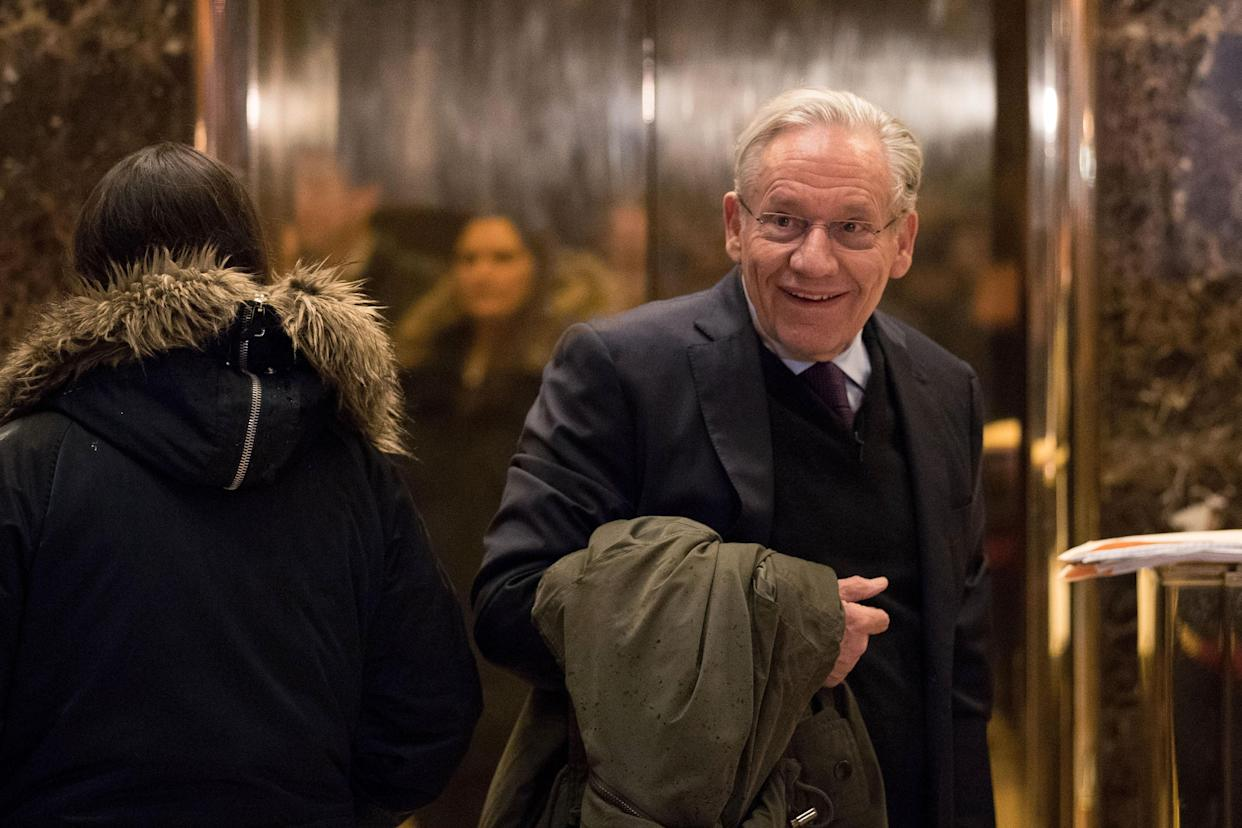 Journalist Bob Woodward arrives at Trump Tower, Jan. 3, 2017. (Photo: Drew Angerer/Getty Images)