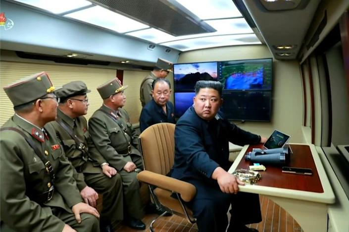 Kim personally supervised at least two of the launches (AFP Photo/Handout)