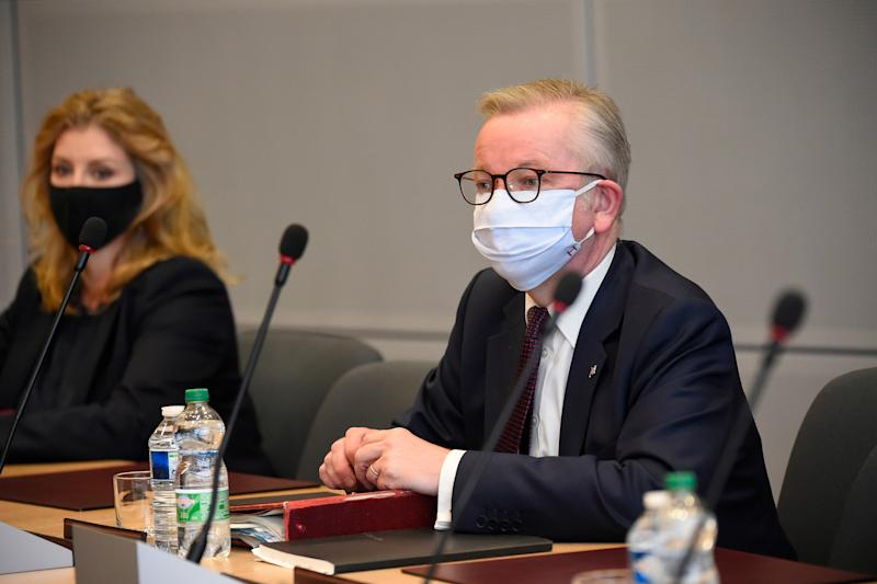 Cabinet Office minister Michael Gove in Brussels (EPA)