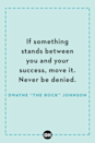 <p>If something stands between you and your success, move it. Never be denied.</p>
