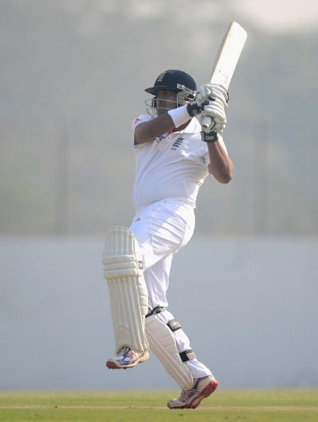 AHMEDABAD, INDIA - NOVEMBER 09:  Samit Patel of England bats during day two of the tour match between England and Haryana at Sardar Patel Stadium ground B on November 9, 2012 in Ahmedabad, India.  (Photo by Gareth Copley/Getty Images)