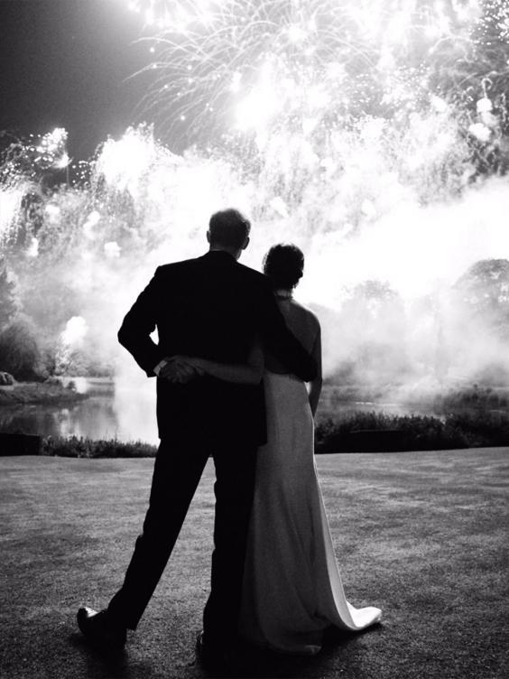 The Sussexes shared a previously unsees photo from their wedding day (Kensington Palace)