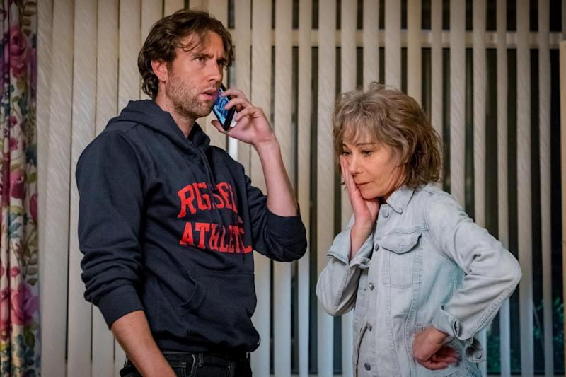 Old friends: Zoe Wanamaker was reunited with her Harry Potter co-star Matthew Lewis on the project