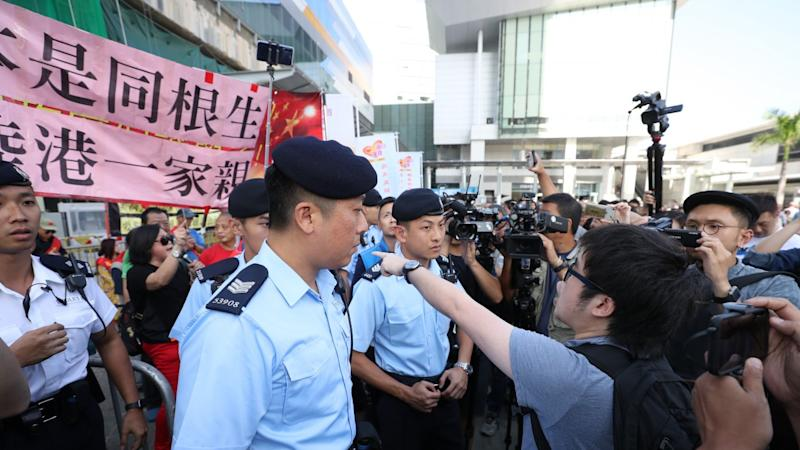 Two arrested as Tung Chung protesters clash over influx of visitors from mainland China to Hong Kong