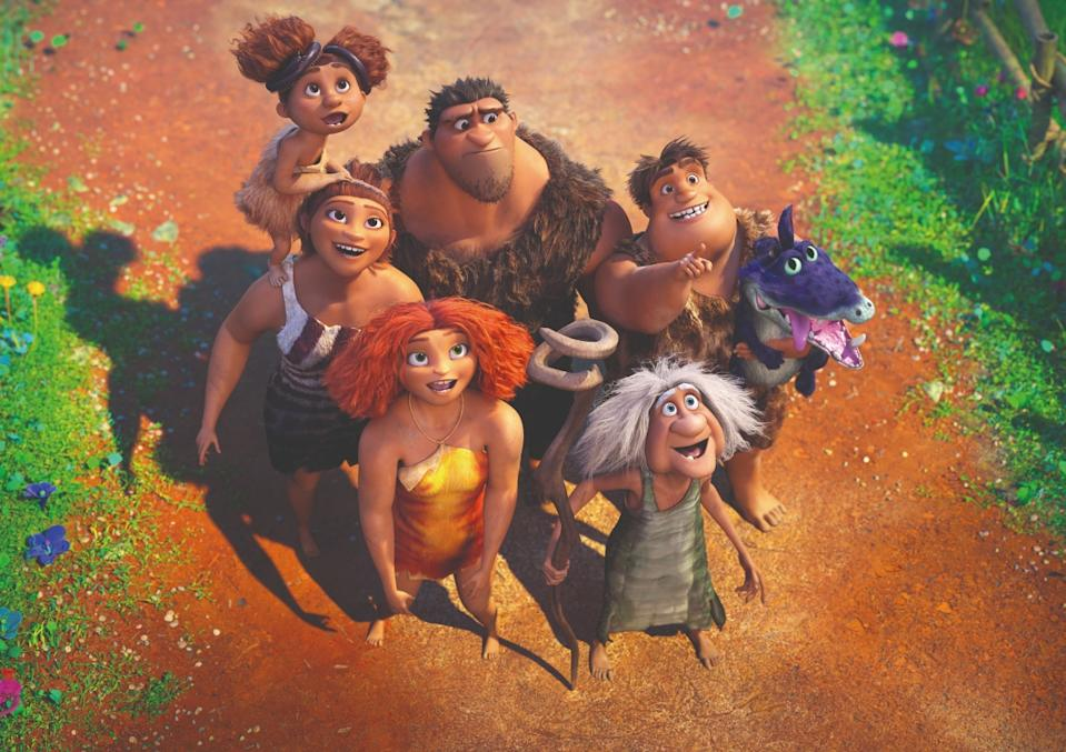 The Crood family in The Croods: A New Age.  (Movie still: United International Pictures)