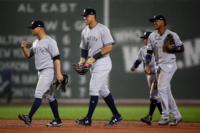 The New York Yankees jumped 13 spots in the Power Rankings. (Getty Images)