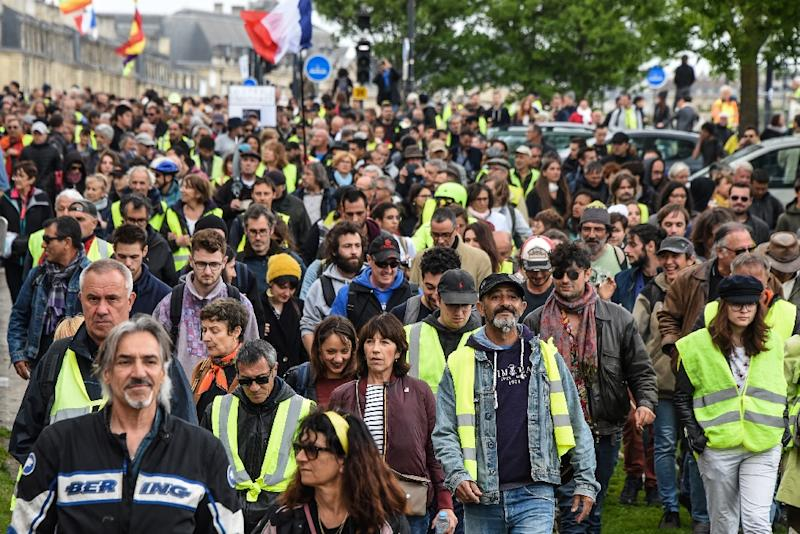 Demonstrators joined the latest 'yellow vest' in Bordeaux, where support for the movement is strong (AFP Photo/MEHDI FEDOUACH)