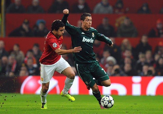 Ronaldo (right) returned to Old Trafford with Real Madrid in 2013 (Martin Rickett/PA).