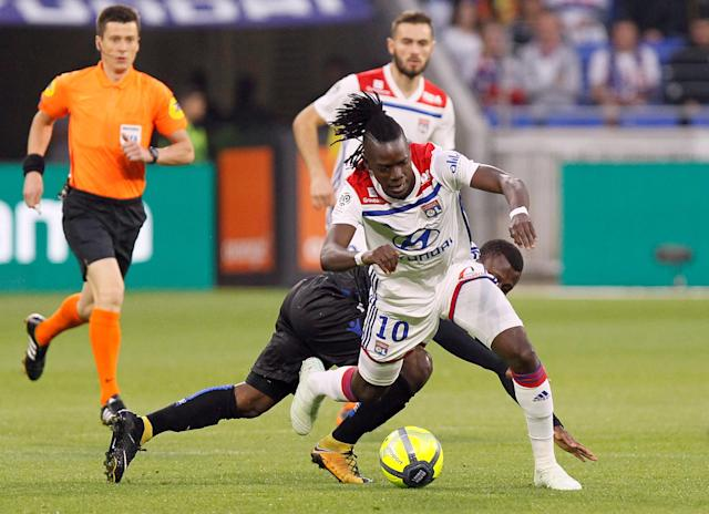 Soccer Football - Ligue 1 - Olympique Lyonnais vs OGC Nice - Groupama Stadium, Lyon, France - May 19, 2018 Lyon's Bertrand Traore in action REUTERS/Emmanuel Foudrot