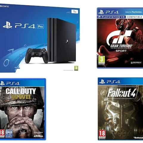 PS4 Pro Call of Duty WW2 GT Sport Fallout 4