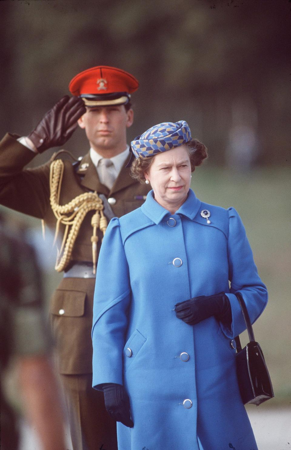 The Queen during an official tour of Portugal, pictured with Major Hugh Lindsay, The Queen's Equerry. (Photo by Tim Graham Photo Library via Getty Images) (Photo: Tim Graham via Getty Images)