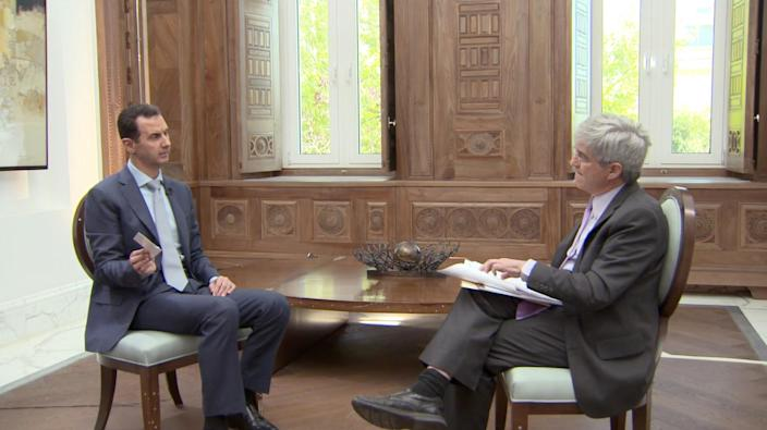 Syrian President Bashar Assad speaks with Yahoo News Chief Investigative Correspondent Michael Isikoff about torture photos. (Yahoo News Video)