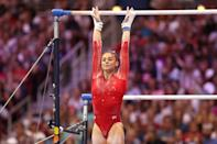 """<p>McCallum told POPSUGAR in her press conference that Liukin, the <a href=""""https://www.popsugar.com/fitness/photos-nastia-liukin-shawn-johnson-46721414"""" class=""""link rapid-noclick-resp"""" rel=""""nofollow noopener"""" target=""""_blank"""" data-ylk=""""slk:2008 Olympic all-around gold medalist"""">2008 Olympic all-around gold medalist</a>, demonstrated """"such a different side of gymnastics. She showed elegance and grace, which you don't see a whole lot.""""</p>"""