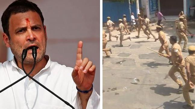 "After 9 people were reported dead in police firing during a protest in Tuticorin, Rahul Gandhi decried ""a brutal example of state-sponsored terrorism""."