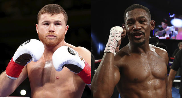 Canelo Alvarez, who holds middleweight and super middleweight titles, will fight Daniel Jacobs on May 4 for the IBF-WBA-WBC middleweight titles in a bout streamed on DAZN. (Getty Images)