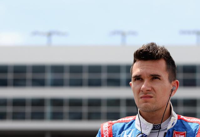 Mikhail Aleshin during NTT DATA Qualifying for the Verizon IndyCar Series Firestone 600 at Texas Motor Speedway on June 6, 2014 in Fort Worth, Texas (AFP Photo/Sarah Glenn)