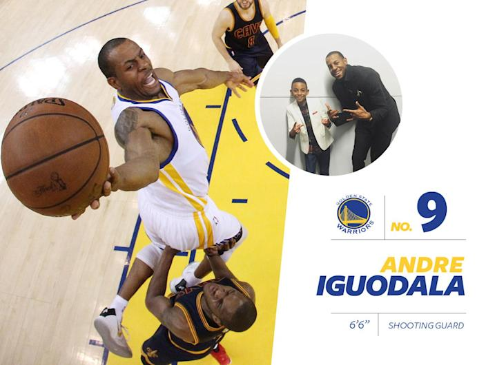 """<p>Warriors' player Andre Iguodala has one of the most fashion-forward Instagram accounts, where he's often seen with his son (also named Andre) in <a href=""""https://www.instagram.com/p/9X1_q_FQKm/?taken-by=andre&hl=en"""" rel=""""nofollow noopener"""" target=""""_blank"""" data-ylk=""""slk:complementary outfits"""" class=""""link rapid-noclick-resp"""">complementary outfits</a>. The duo are so quintessentially """"GQ"""" that it'll blow your mind. <i>Photo: Getty Images / Instagram.com</i></p>"""