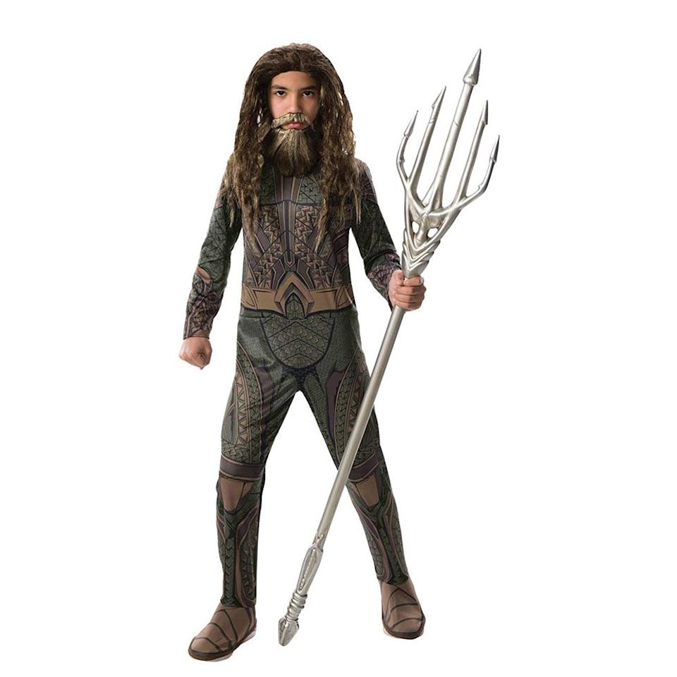 """<p>$19</p><p><a rel=""""nofollow"""" href=""""https://www.amazon.com/Rubies-Costume-Justice-Aquaman-Multicolor/dp/B01N4UFUWK/"""">SHOP NOW</a></p><p>This water-themed superhero costume is sure to keep strong swimmers happy <a rel=""""nofollow"""" href=""""https://www.womansday.com/home/g21931516/pool-games-for-kids/"""">when the pool's closed</a>.</p>"""
