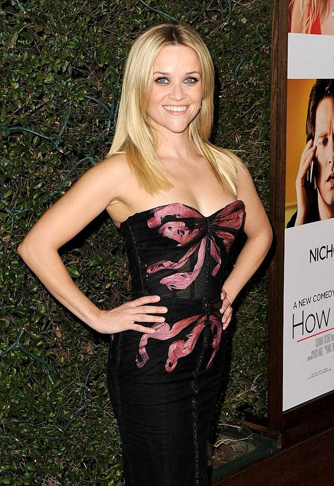 "At age 35, Reese Witherspoon is looking better than ever! The Oscar winner has been glowing since tying the knot in March with Jim Toth, but the mother of two has always been able to light up a room with her beautiful smile. Kevin Winter/<a href=""http://www.gettyimages.com/"" target=""new"">GettyImages.com</a> - December 13, 2010"