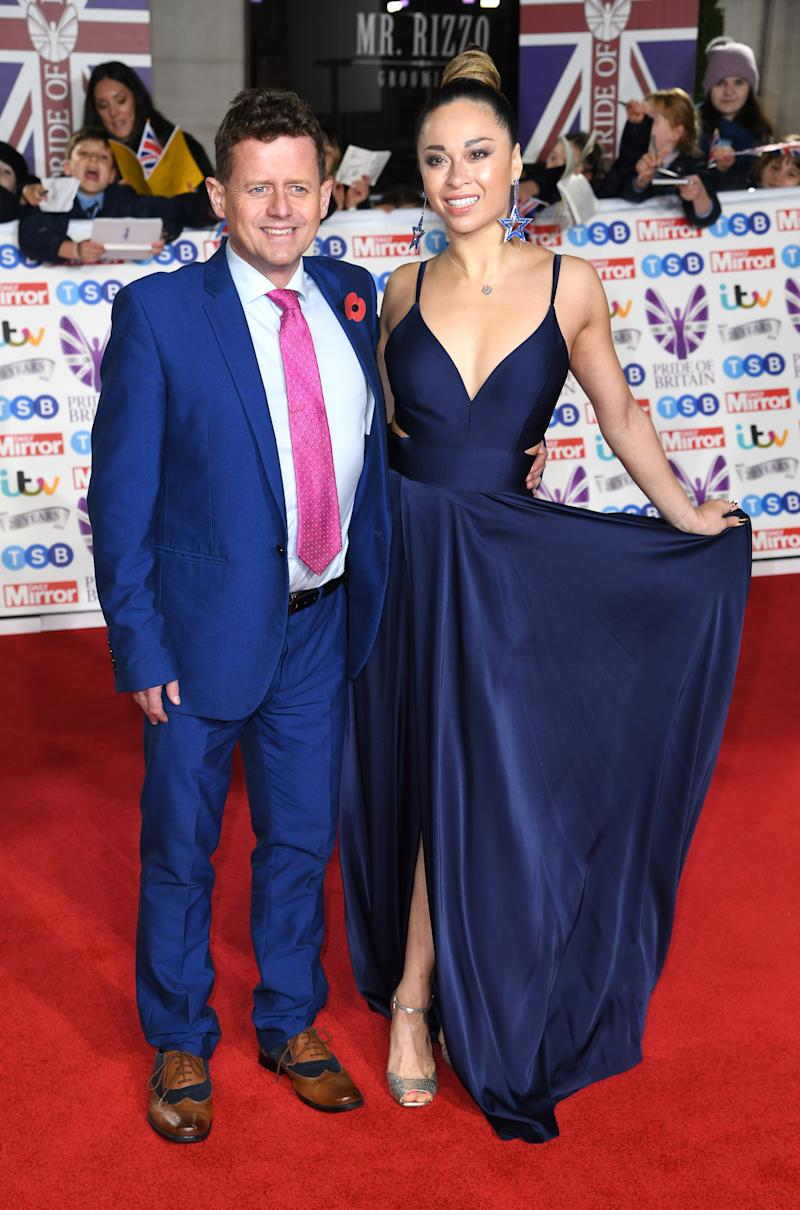 Mike Bushell and Katya Jones attending the the 2019 Pride of Britain Awards, held at Grosvenor House in London. The Daily Mirror Pride of Britain Awards, in partnership with TSB, will broadcast on ITV on 5th November at 8pm. Picture credit should read: Doug Peters/EMPICS
